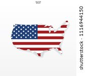 map of the usa with american... | Shutterstock .eps vector #1116944150