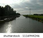 dutch ditch  friesland | Shutterstock . vector #1116944246