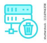 delete vector icon | Shutterstock .eps vector #1116946358
