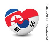 flag of north korea and south... | Shutterstock .eps vector #1116947843