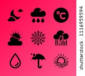 vector icon set about weather... | Shutterstock .eps vector #1116959594