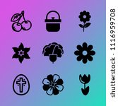 vector icon set about flowers... | Shutterstock .eps vector #1116959708