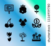 vector icon set about gardening ... | Shutterstock .eps vector #1116959780