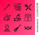 vector icon set about kitchen...   Shutterstock .eps vector #1116961538