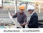 foreman construction engineer... | Shutterstock . vector #1116964094