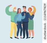 vector cartoon illustration of... | Shutterstock .eps vector #1116967829