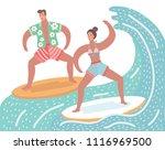 vector cartoon funny summer...   Shutterstock .eps vector #1116969500