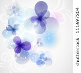 floral card for design.... | Shutterstock .eps vector #111697304