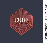cube logo. vector design.... | Shutterstock .eps vector #1116975434