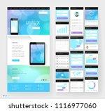 website template design with... | Shutterstock .eps vector #1116977060