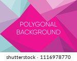 triangle polygon pattern...   Shutterstock .eps vector #1116978770