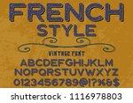 classic vintage decorative font ... | Shutterstock .eps vector #1116978803