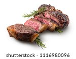 sliced t bone steak with... | Shutterstock . vector #1116980096