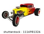 Hot Rod Sports Car. Isolated On ...