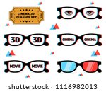 set of 3d glasses with... | Shutterstock .eps vector #1116982013