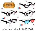 awesome set of 3d glasses with... | Shutterstock .eps vector #1116982049