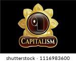 golden emblem or badge with...   Shutterstock .eps vector #1116983600