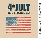 usa independence day with flag | Shutterstock .eps vector #1116991250