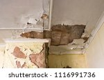Small photo of Water damage building interior