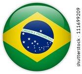 vector   brazil flag glossy... | Shutterstock .eps vector #111699209