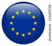 vector   europe flag glossy...