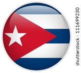 Vector   Cuba Flag Glossy Button ...