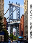 manhattan bridge and empire... | Shutterstock . vector #111699608