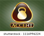golden emblem or badge with... | Shutterstock .eps vector #1116996224