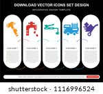 5 vector icons such as paper... | Shutterstock .eps vector #1116996524