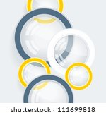 abstract 3d geometrical design | Shutterstock .eps vector #111699818