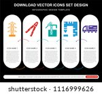5 vector icons such as pole ... | Shutterstock .eps vector #1116999626