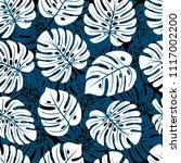 leaves of palm  monstera....   Shutterstock .eps vector #1117002200