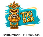 banner with tiki ethnic... | Shutterstock .eps vector #1117002536