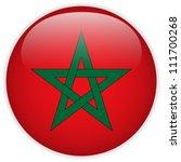 vector   morocco flag glossy... | Shutterstock .eps vector #111700268