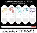 5 vector icons such as talking  ... | Shutterstock .eps vector #1117004336