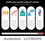 5 vector icons such as car ...   Shutterstock .eps vector #1117004393