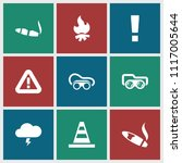 danger icon. collection of 9... | Shutterstock .eps vector #1117005644