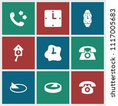 dial icon. collection of 9 dial ... | Shutterstock .eps vector #1117005683