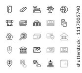 bank icon. collection of 25... | Shutterstock .eps vector #1117005740