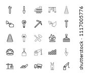 build icon. collection of 25... | Shutterstock .eps vector #1117005776