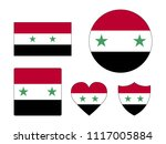 syria flags set | Shutterstock .eps vector #1117005884