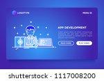 app development concept ...