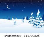 vector illustration of a winter ...