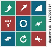 arrows icon. collection of 9...