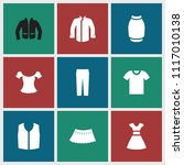 apparel icon. collection of 9... | Shutterstock .eps vector #1117010138