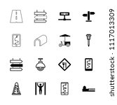 street icon. collection of 16... | Shutterstock .eps vector #1117013309