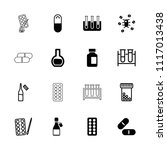 pharmaceutical icon. collection ...   Shutterstock .eps vector #1117013438