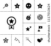 star icon. collection of 13... | Shutterstock .eps vector #1117013624