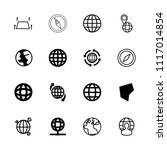 geography icon. collection of... | Shutterstock .eps vector #1117014854