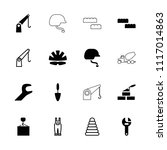 build icon. collection of 16... | Shutterstock .eps vector #1117014863